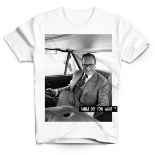 T-shirt Chirac en voiture What do you want
