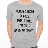 T-shirt J'aimerais perdre du poids