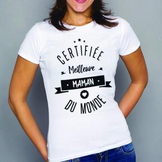 T-shirt Certifiée meilleure maman