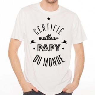 T-shirt Certifié meilleur papy