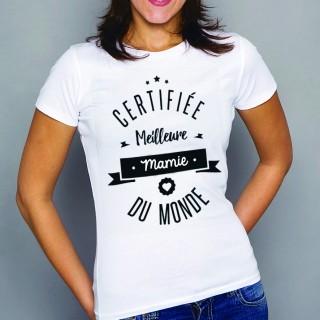 T-shirt Certifiée meilleure mamie