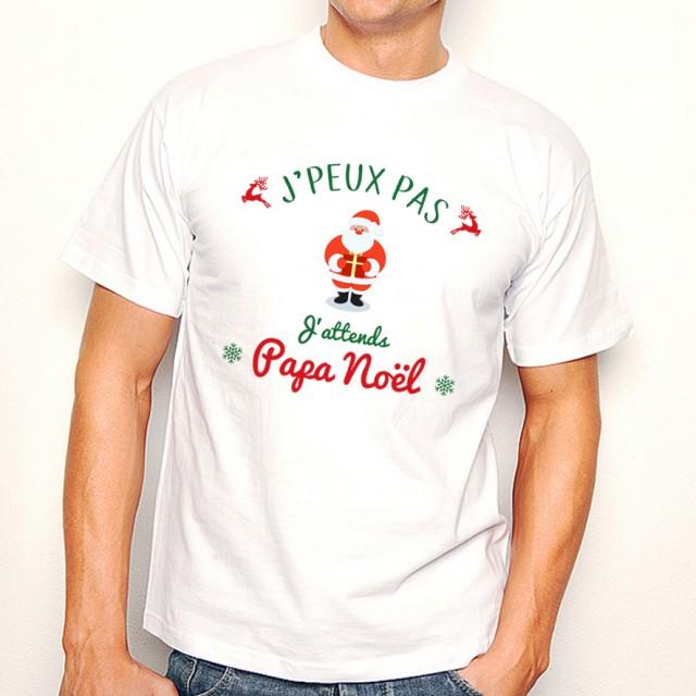 T-shirt NOEL J'peux pas... J'attends Papa Noël