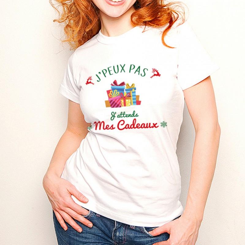 T-shirt NOEL J'peux pas... J'attends mes Cadeaux