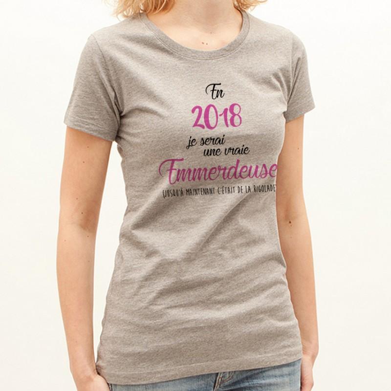T-shirt 2018 une vraie emmerdeuse