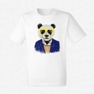 T-shirt Hipster Panda