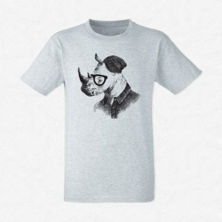 T-shirt Rhino in hipster style