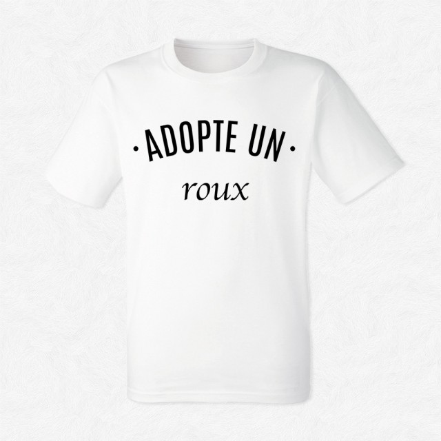 T-shirt Adopte un roux