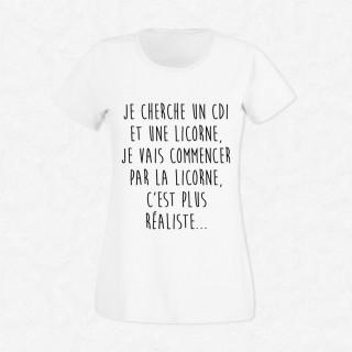 T-shirt CDI ou licorne