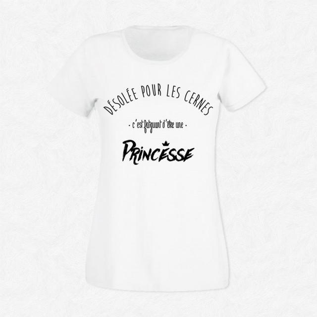 T-shirt Fatiguant d'être une princesse