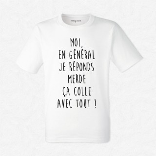 T-shirt Je réponds merde