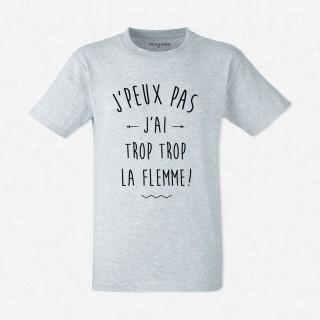 T-shirt Trop trop la flemme