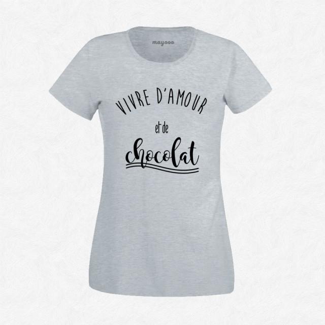 T-shirt Vivre d'amour et de chocolat