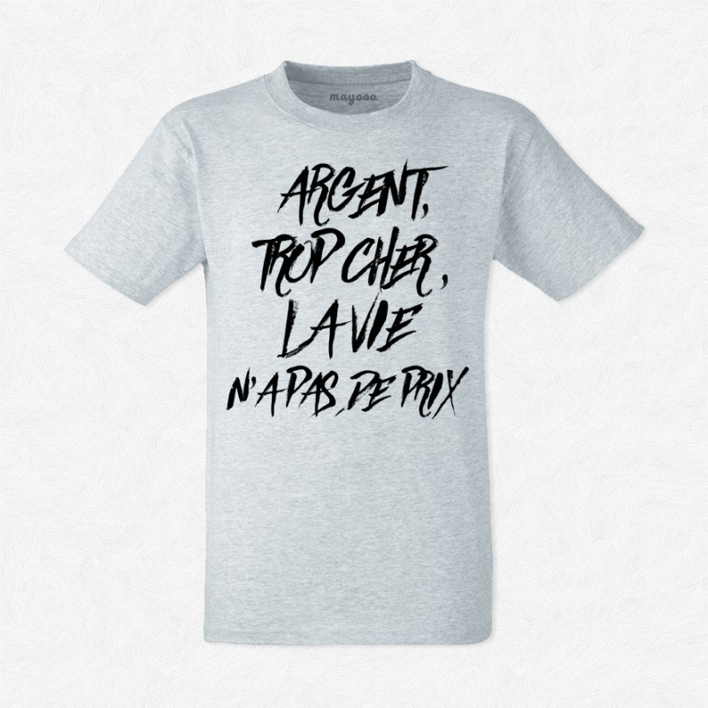 T-shirt Argent trop cher