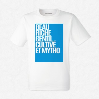 T-shirt Beau, riche, gentil