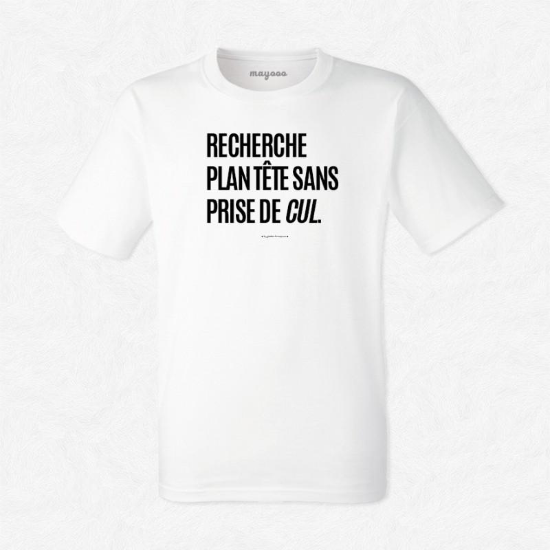 T-shirt Recherche plan tête