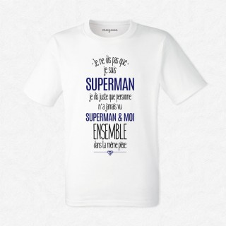 T-shirt Superman et moi