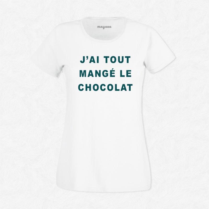 T-shirt J'ai tout mangé le chocolat