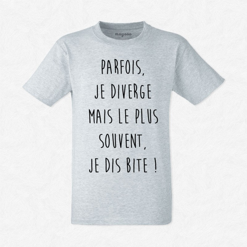 T-shirt Parfois je diverge