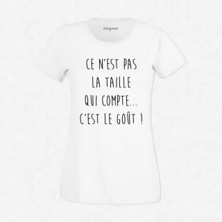 T-shirt Ce n'est pas la taille