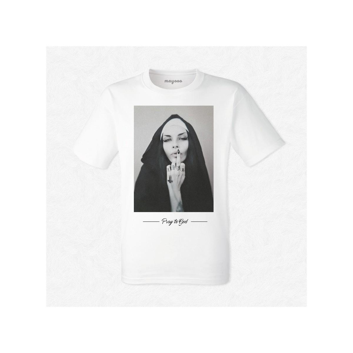 T-shirt Soeur Rebecca pray to god