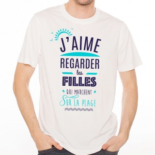 T-shirt J'aime regarder les filles