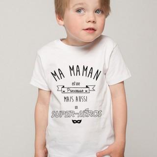 T-shirt Ma maman est une princesse