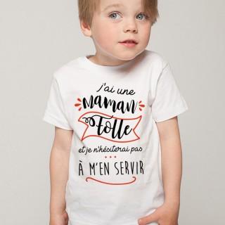 T-shirt Maman Folle