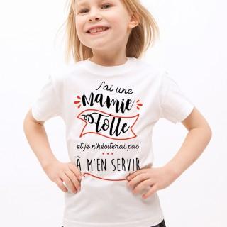 T-shirt Mamie Folle