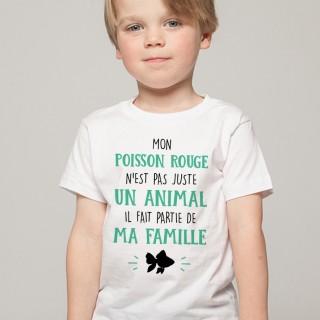 T-shirt Mon Poisson Rouge fait parti de ma Famille