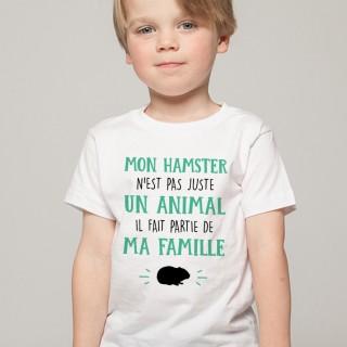 T-shirt Mon Hamster fait parti de ma Famille