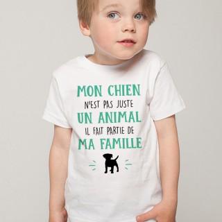 T-shirt Mon Chien fait parti de ma Famille