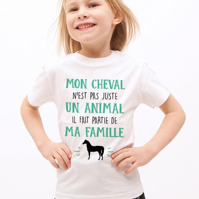 T-shirt Mon Cheval fait parti de ma Famille