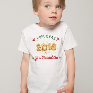 T-shirt NOEL J'peux pas... J'ai Nouvel An