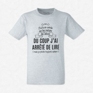 T-shirt J'ai lu un article sur les méfaits..