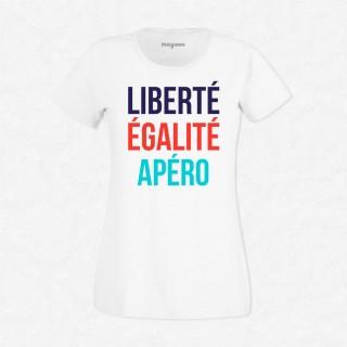 T-shirt Liberté, égalité, apéro