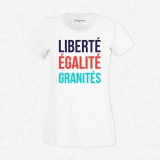 T-shirt Liberté, égalité, granités