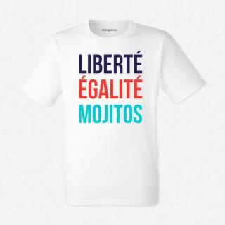 T-shirt Liberté, égalité, mojitos
