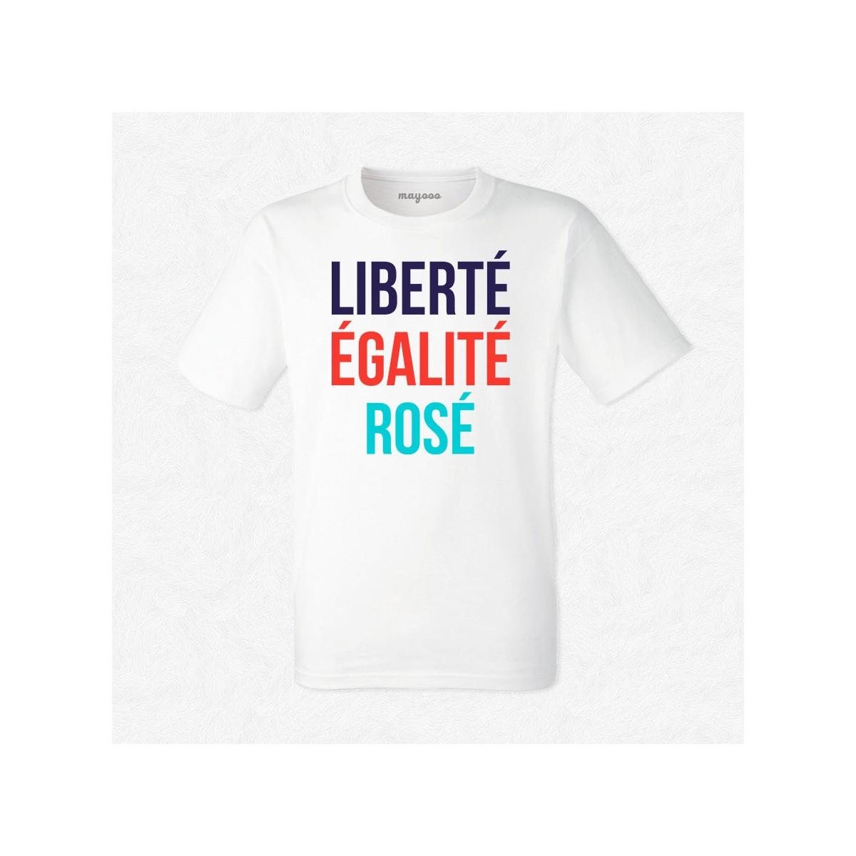 T-shirt Liberté, égalité, rosé