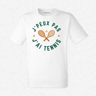 T-shirt J'peux pas j'ai tennis