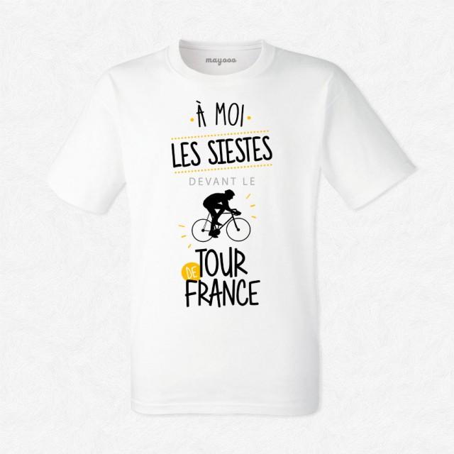 T-shirt Siestes devant le tour de France