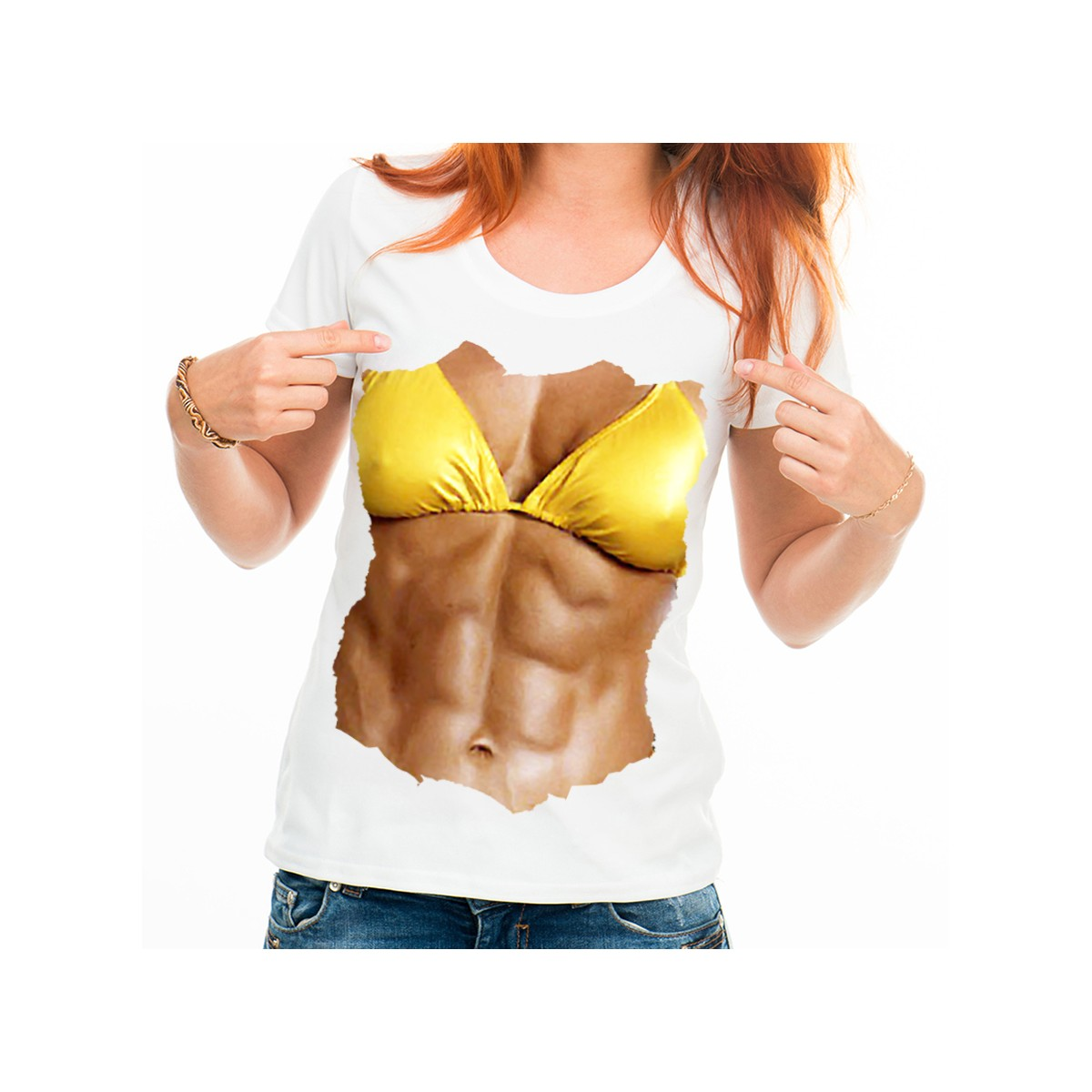 T-shirt Corps muscle femme