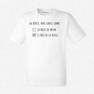 T-shirt Le rosé de la veille