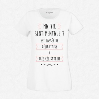 T-shirt Ma vie sentimentale