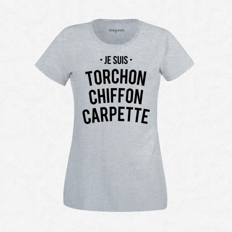 T-shirt Torchon chiffon carpette