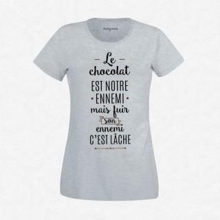 T-shirt Le chocolat est notre ennemis