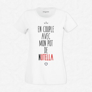 T-shirt En couple avec le pot de Nutella
