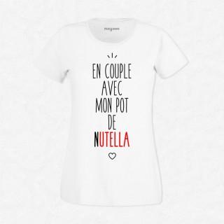 T-shirt En couple avec le pot de Nutella
