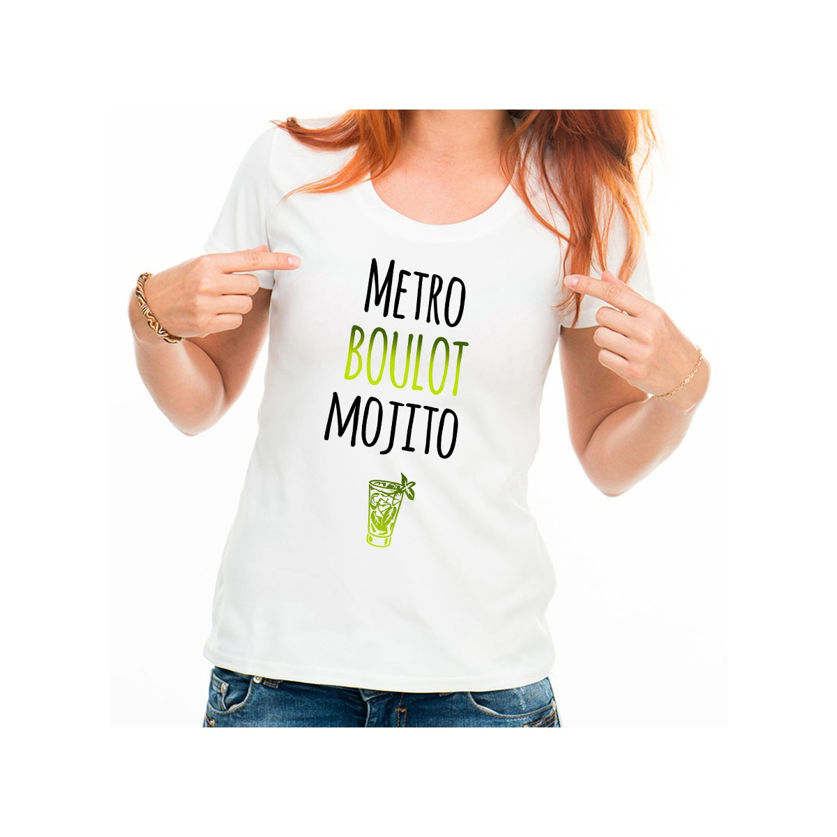 T-shirt Métro Boulot Mojito