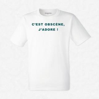 T-shirt C'est obscène j'adore