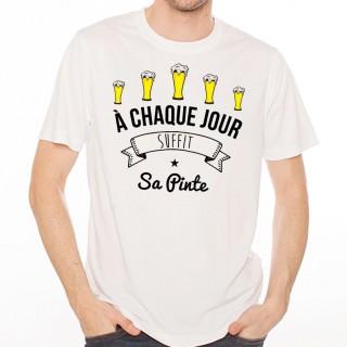 T-shirt À chaque jour suffit sa pinte